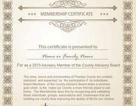 Nro 13 kilpailuun Design a membership certificate käyttäjältä tanzeelhussain