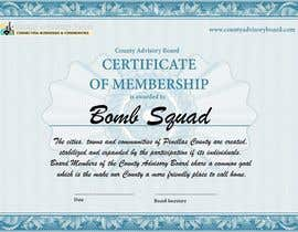 Nro 16 kilpailuun Design a membership certificate käyttäjältä jehadnaji