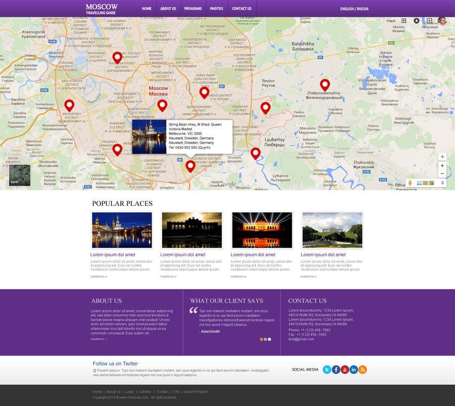 Konkurrenceindlæg #                                        3                                      for                                         Design a Website Mockup for City Travelling Guide
