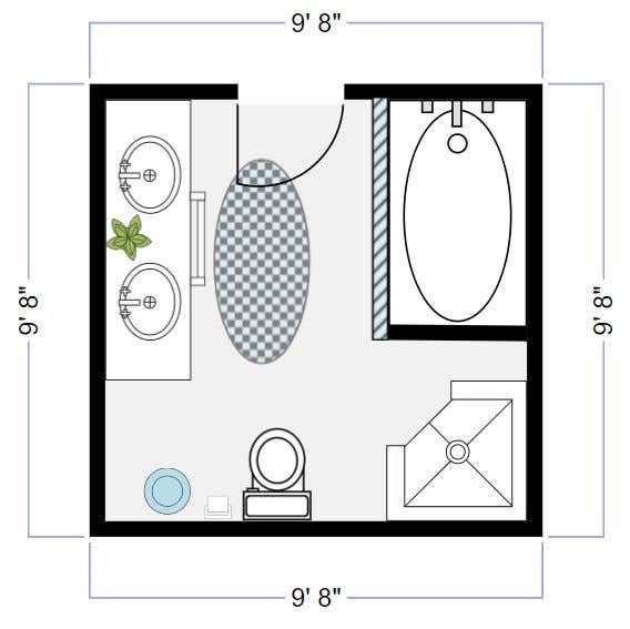 Konkurrenceindlæg #                                        5                                      for                                         Bathroom design