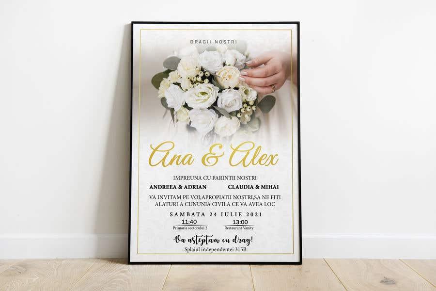 Kilpailutyö #                                        4                                      kilpailussa                                         Wedding invitation template