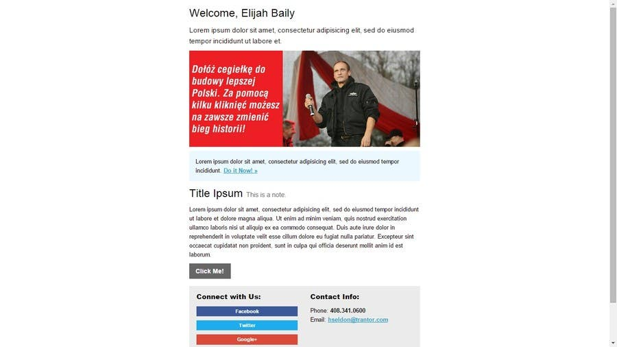 Contest Entry #                                        3                                      for                                         Design and build responsive email