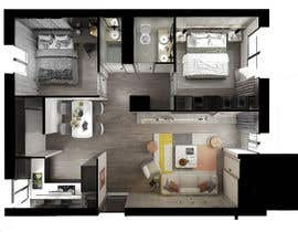 #46 untuk 2 bedroom apartment interior design oleh nadawalid97
