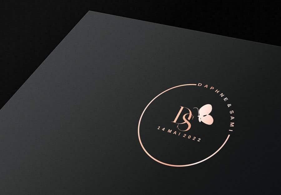 Penyertaan Peraduan #                                        26                                      untuk                                         Design modern and simple wedding  GOLD monogram logo for a WEDDING