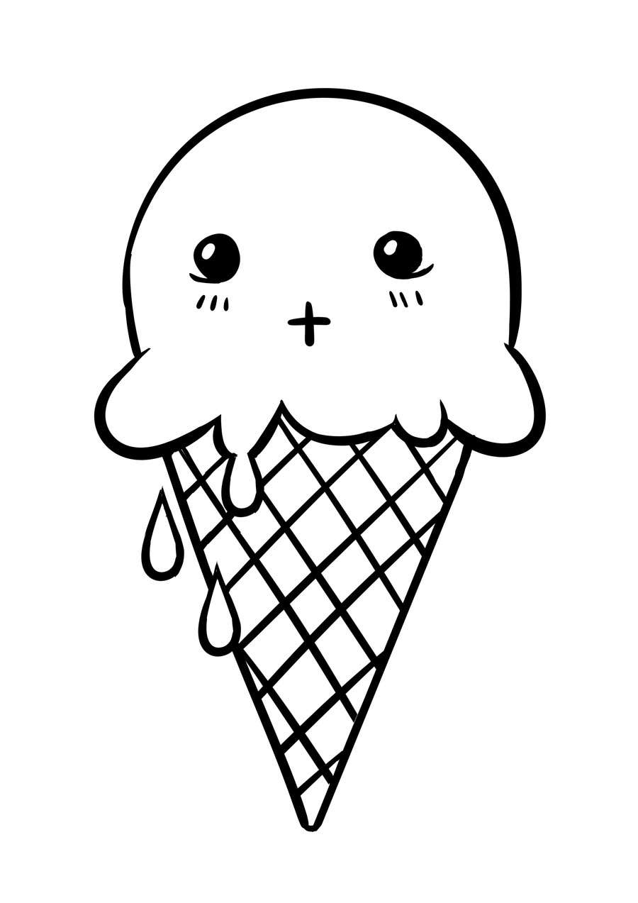 Contest Entry #                                        19                                      for                                         VERY SIMPLE JOB - Design a kawaii ice cream t-shirt print for infant/children's clothing brand