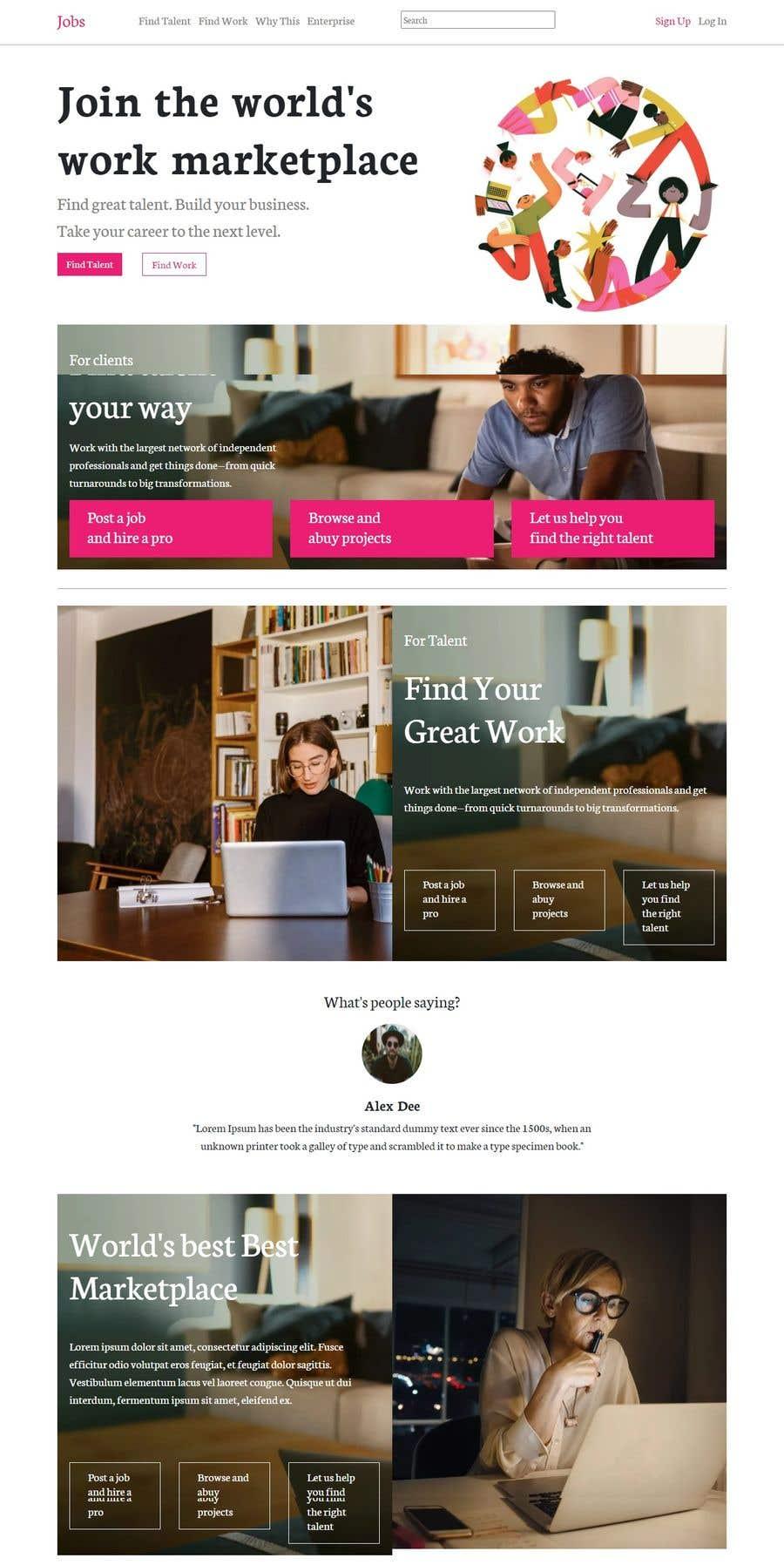 Konkurrenceindlæg #                                        1                                      for                                         Build me a stunning Website/Portal (Looking for UI experts)