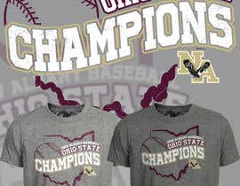 #157 untuk New Albany Ohio Baseball State Champs Tee Shirt Design oleh Maxbah