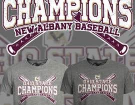 #158 untuk New Albany Ohio Baseball State Champs Tee Shirt Design oleh Maxbah