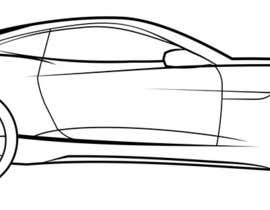 #4 for Create an Outline sketch for a car as per given example by fahmiwol
