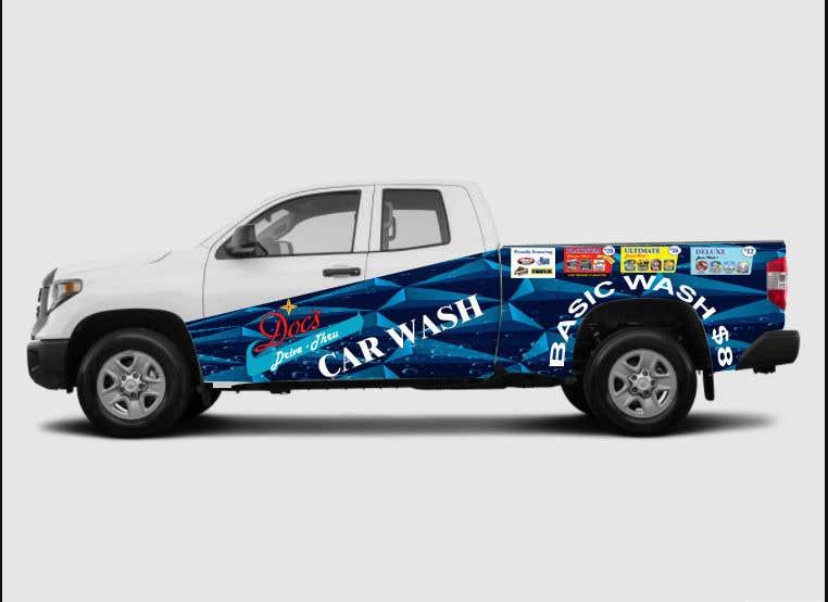 Kilpailutyö #                                        8                                      kilpailussa                                         Partial Truck Wrap Design