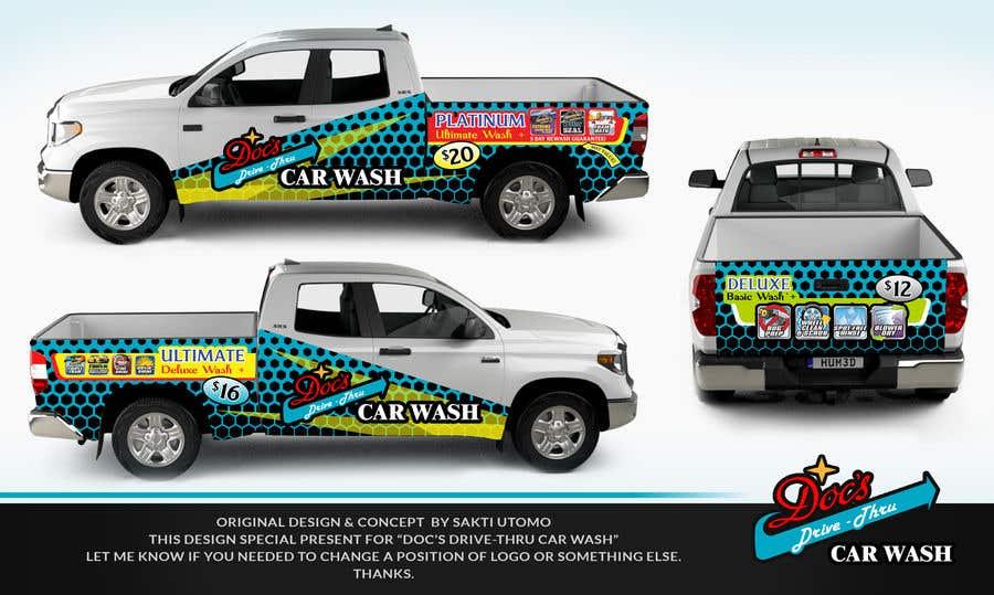 Kilpailutyö #                                        2                                      kilpailussa                                         Partial Truck Wrap Design