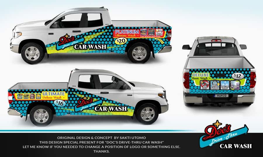 Kilpailutyö #                                        3                                      kilpailussa                                         Partial Truck Wrap Design