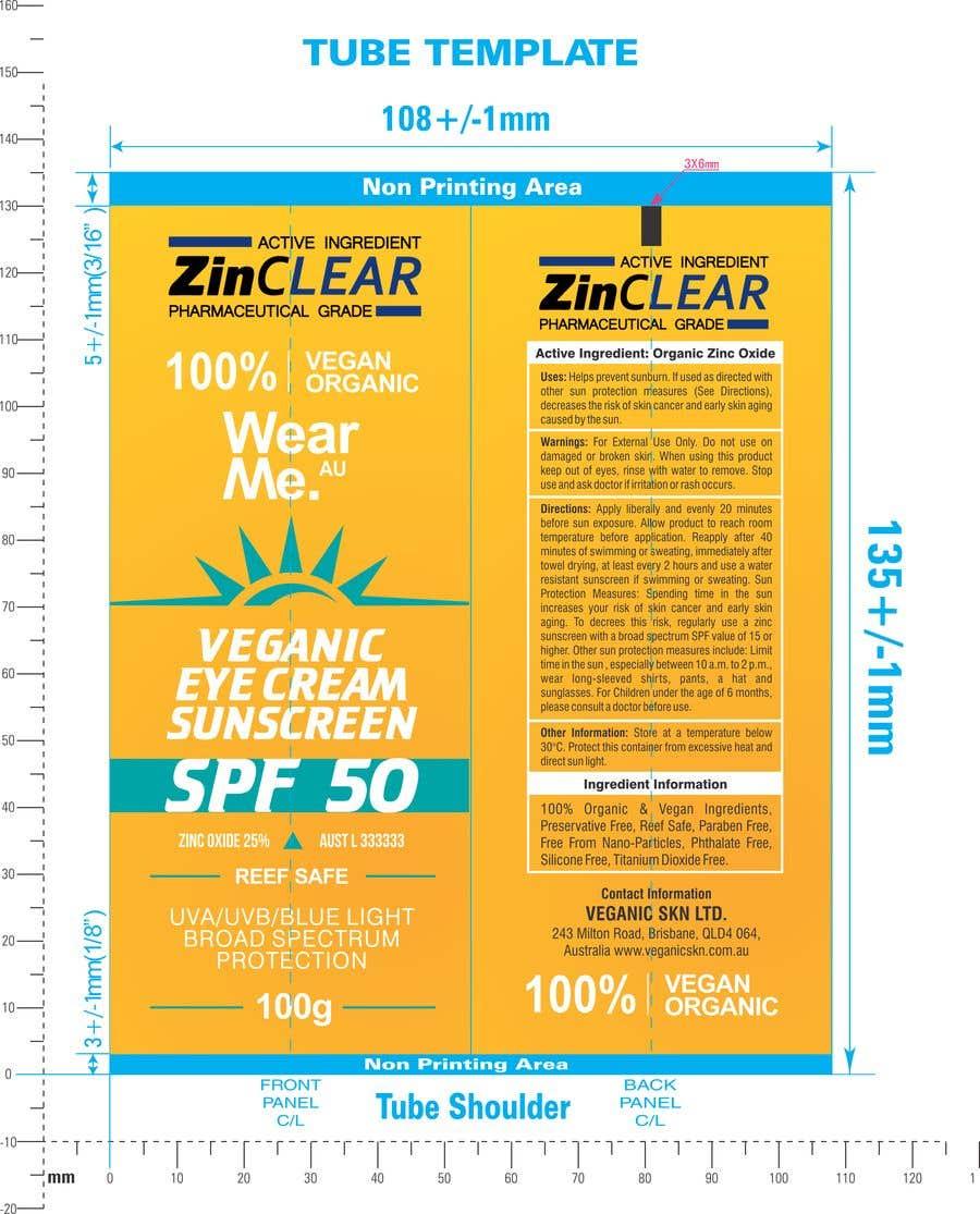 Konkurrenceindlæg #                                        30                                      for                                         Design a Sunscreen Tube Packaging!