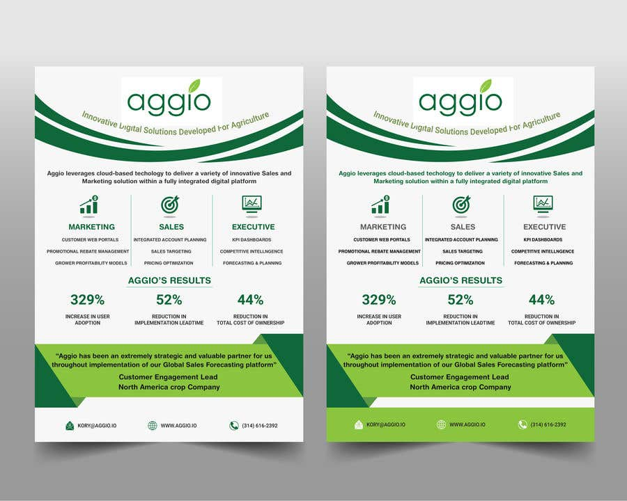 Proposition n°                                        14                                      du concours                                         Design a creative and professional marketing one-pager (from existing design template)