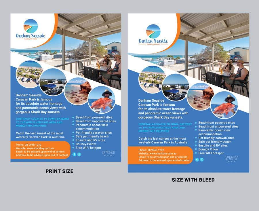 Bài tham dự cuộc thi #                                        36                                      cho                                         Design a Magazine Advertisement for Denham Seaside Caravan Park - 16/06/2021 02:48 EDT