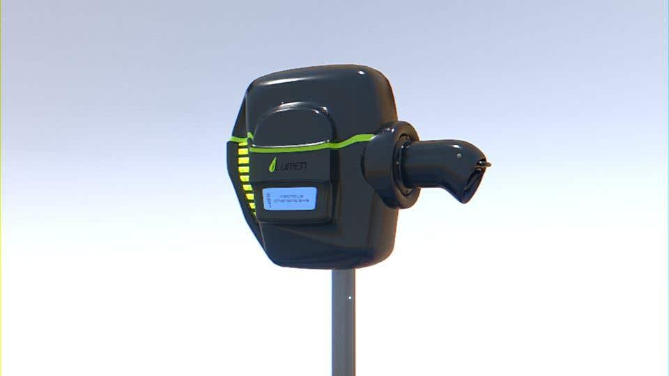 Kilpailutyö #                                        11                                      kilpailussa                                         3D design of charging point for a Electric Vehicule