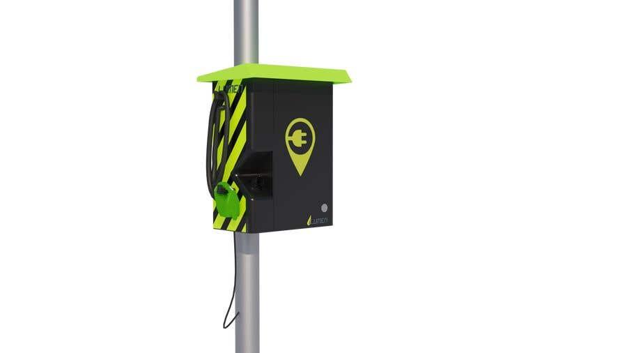 Kilpailutyö #                                        3                                      kilpailussa                                         3D design of charging point for a Electric Vehicule