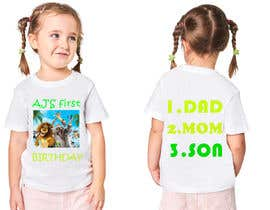 Nro 87 kilpailuun Tshirt design kids party käyttäjältä mrsrima105