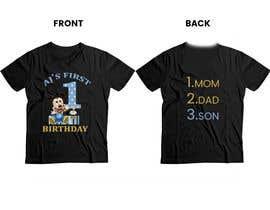 Nro 78 kilpailuun Tshirt design kids party käyttäjältä Rozeem