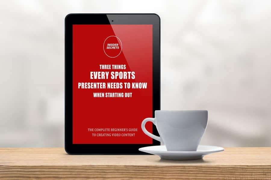 Kilpailutyö #                                        53                                      kilpailussa                                         Design Cover for Slim Book - Free guide for beginner sports presenters