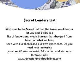 #8 untuk Build me a Secret Lenders List oleh RIYAGHALOTH