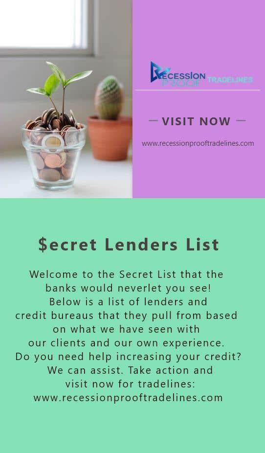 Penyertaan Peraduan #                                        20                                      untuk                                         Build me a Secret Lenders List