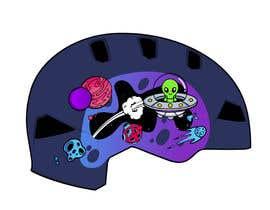 Nro 92 kilpailuun Beautiful cartoon outer space theme illustration designed for Children helmets käyttäjältä sandeeptwc3