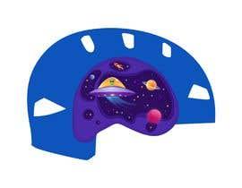 Nro 96 kilpailuun Beautiful cartoon outer space theme illustration designed for Children helmets käyttäjältä Emator