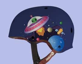 Nro 81 kilpailuun Beautiful cartoon outer space theme illustration designed for Children helmets käyttäjältä KWORKSDESIGN