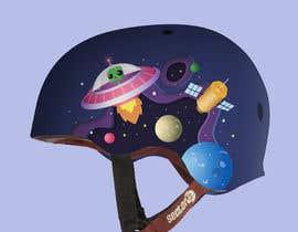 Nro 91 kilpailuun Beautiful cartoon outer space theme illustration designed for Children helmets käyttäjältä KWORKSDESIGN