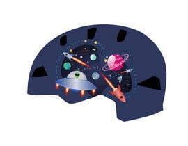 Nro 48 kilpailuun Beautiful cartoon outer space theme illustration designed for Children helmets käyttäjältä erwantonggalek