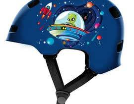 Nro 98 kilpailuun Beautiful cartoon outer space theme illustration designed for Children helmets käyttäjältä kaushalyasenavi