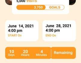 Nro 21 kilpailuun iPhone App Screen Design for GoalPrize Dashboard: UI UX design käyttäjältä subhansingandaru