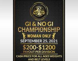 Nro 73 kilpailuun Women's Jiu-Jitsu Event Flyer Virginia and Maryland käyttäjältä shawonaakon