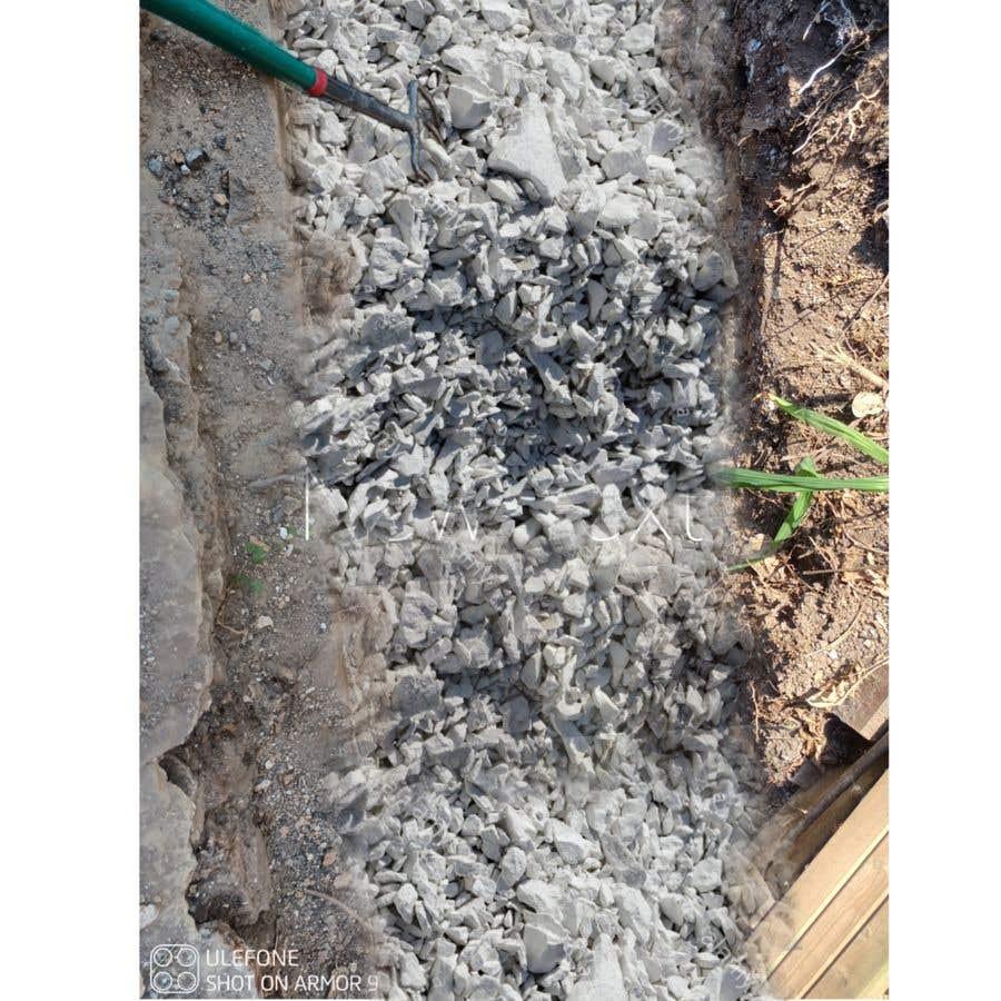 Kilpailutyö #                                        4                                      kilpailussa                                         chalk at base of dug footings