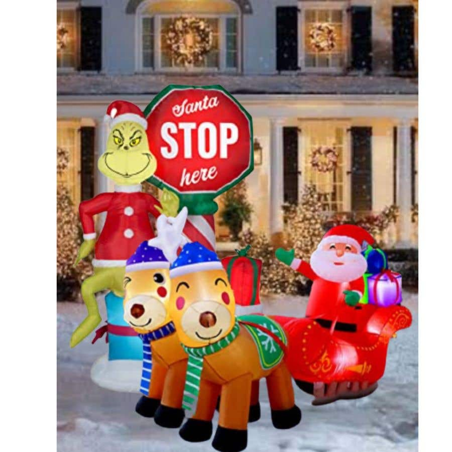 Bài tham dự cuộc thi #                                        12                                      cho                                         Blow Up Inflatable Outdoor Christmas Santa Claus and the Grinch