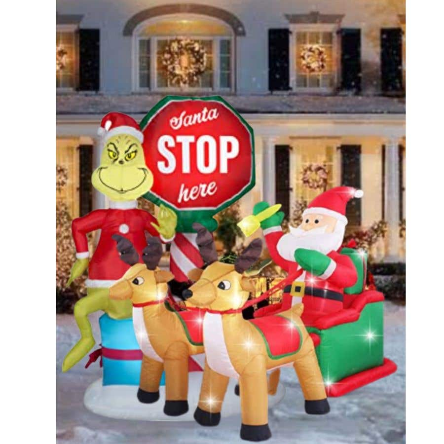 Bài tham dự cuộc thi #                                        13                                      cho                                         Blow Up Inflatable Outdoor Christmas Santa Claus and the Grinch
