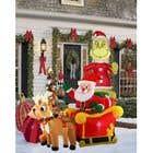 Blow Up Inflatable Outdoor Christmas Santa Claus and the Grinch için Graphic Design22 No.lu Yarışma Girdisi