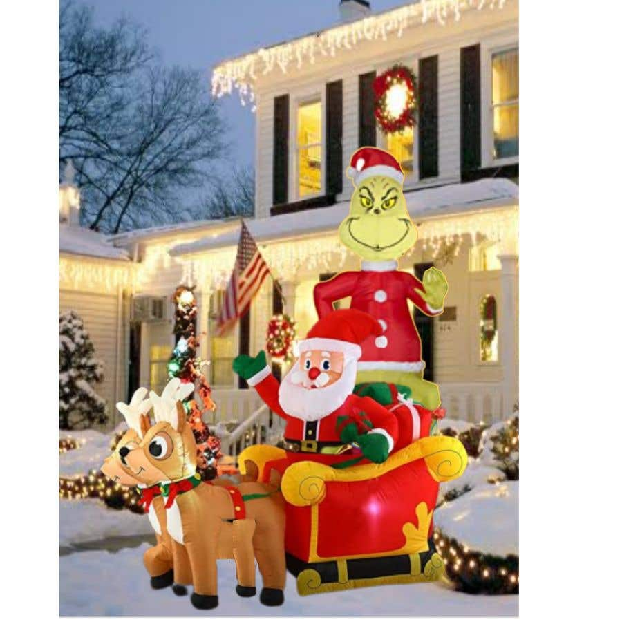 Bài tham dự cuộc thi #                                        23                                      cho                                         Blow Up Inflatable Outdoor Christmas Santa Claus and the Grinch