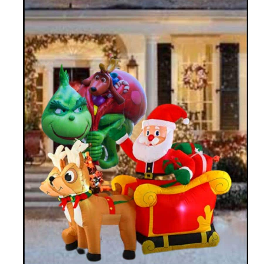 Bài tham dự cuộc thi #                                        31                                      cho                                         Blow Up Inflatable Outdoor Christmas Santa Claus and the Grinch