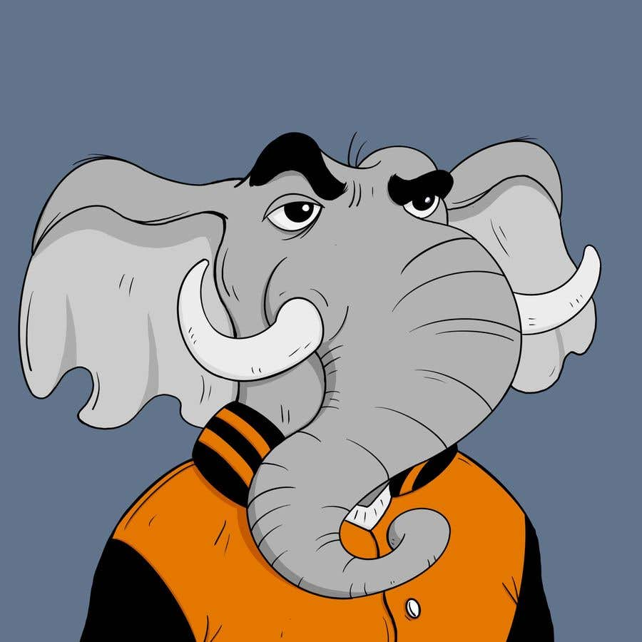 Contest Entry #                                        8                                      for                                         Make a elephant avatar NFT based on the examples provided