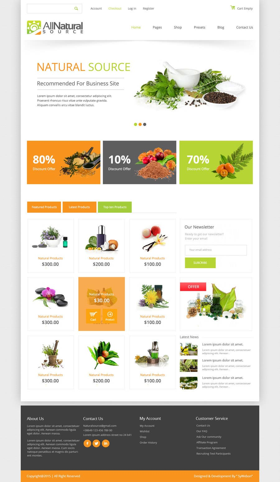 Contest Entry #27 for Design a Website Mockup for Natural Products E-Commerce Site