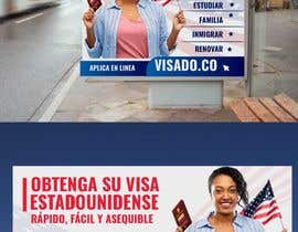 #257 untuk Billboards for USA Travel Visa Business oleh Creativeden