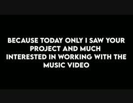 #10 para YouTube Video Series - Edit Together Footage for a Music Video por jeewajivs