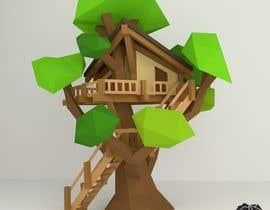 #76 para Design a treehouse on top of a tree that was trimmed and cut por yunusolayinkaism