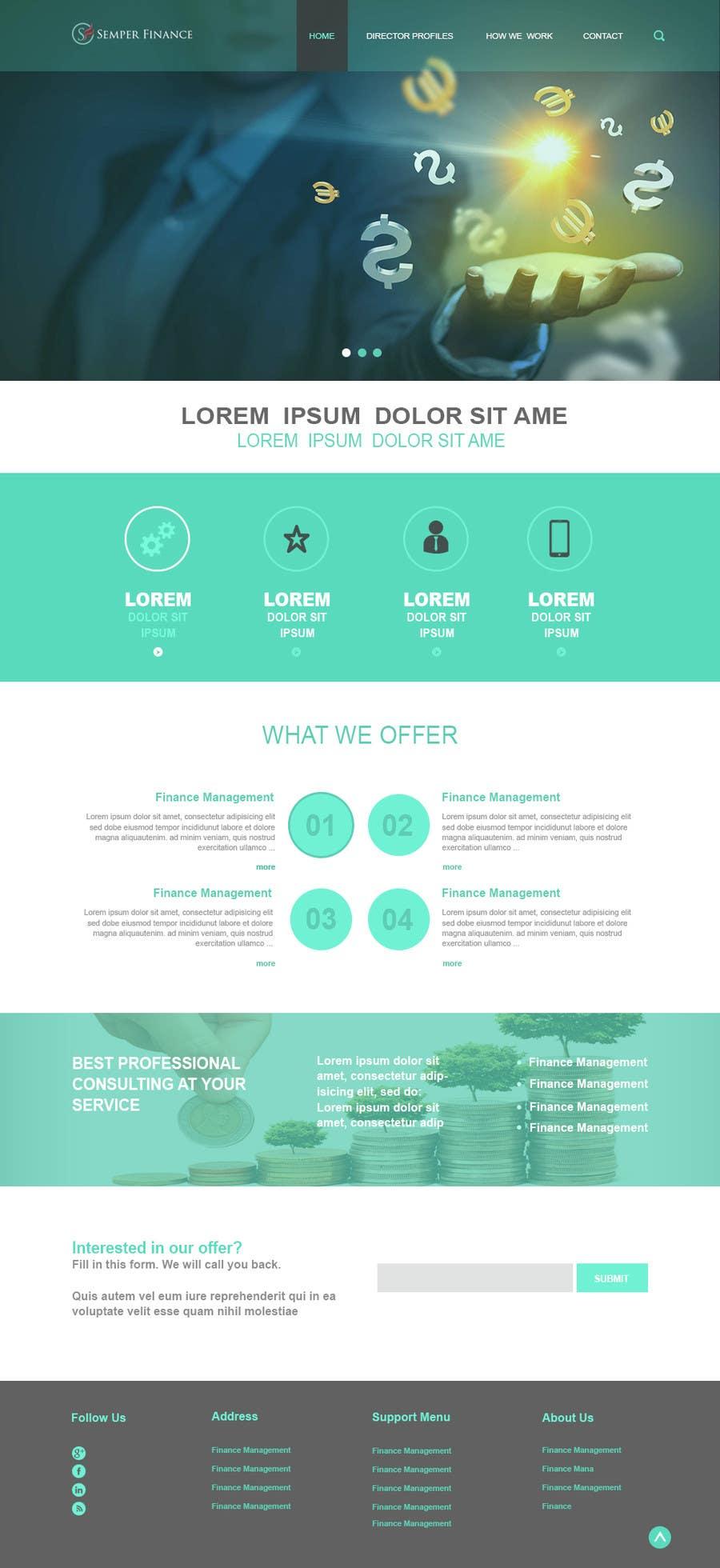 Konkurrenceindlæg #13 for Design a Website Mockup for a finance company
