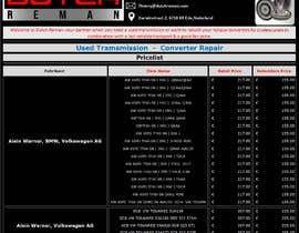 Nro 4 kilpailuun pricelist design käyttäjältä Arshad1978