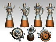 Bài tham dự #11 về Illustration cho cuộc thi Illustration of an Future product - Rocket Engine Prototype Simulation for pitch deck