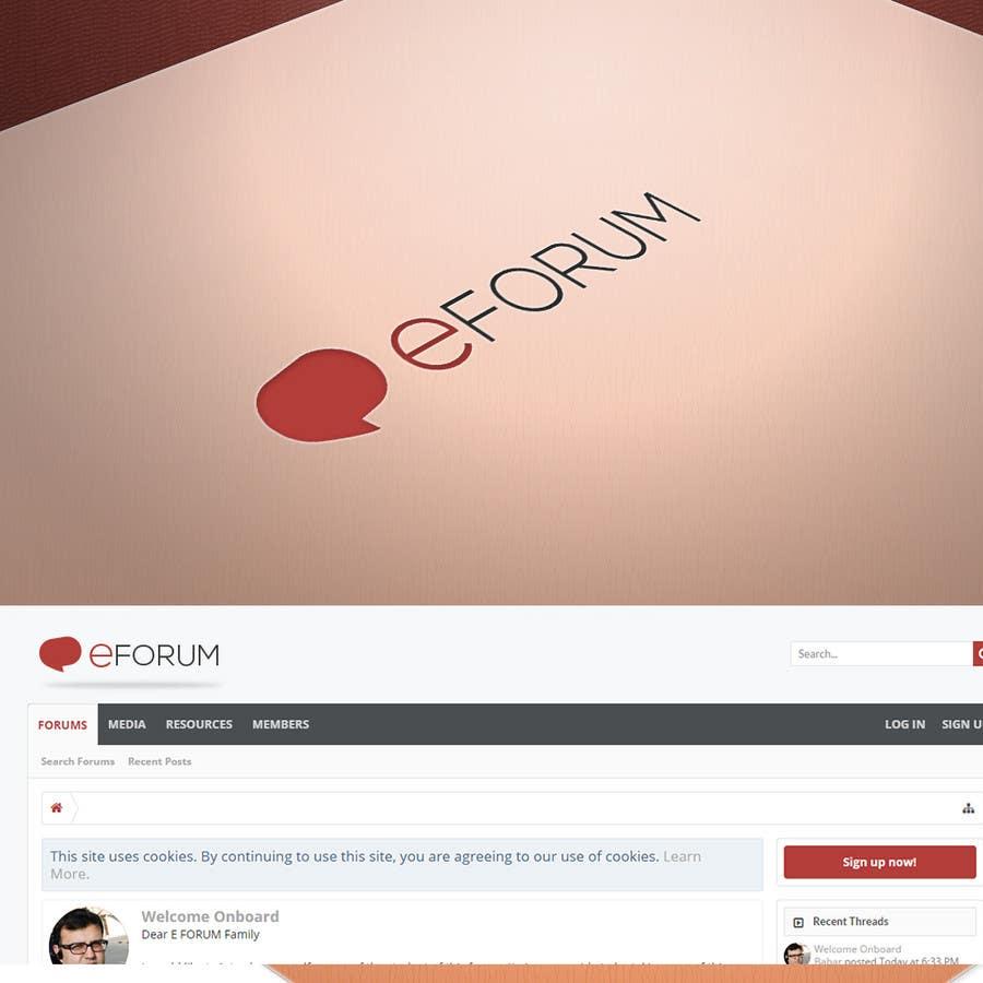 Penyertaan Peraduan #37 untuk eForum logo
