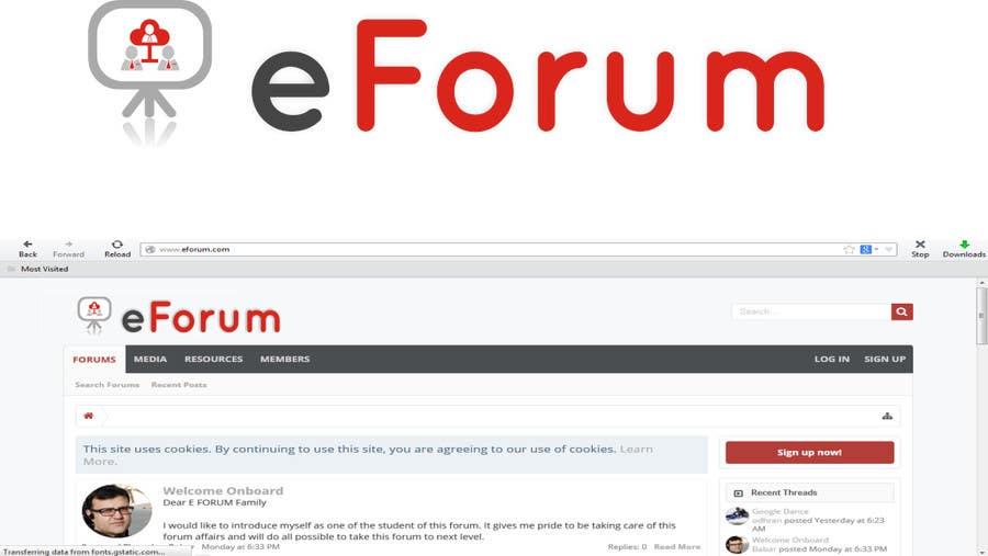 Penyertaan Peraduan #111 untuk eForum logo